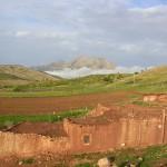 Le Tichoukt vue de la terrasse du Gîte de la Gorge